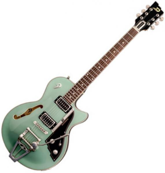Guitare électrique 1/2 caisse Duesenberg Starplayer TV - Catalina harbor green