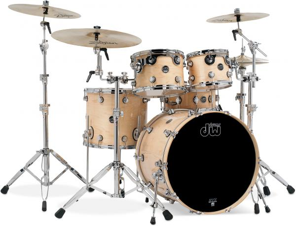 Batterie acoustique standard Dw Performance Set Standard - 4 fûts - Natural lacquer