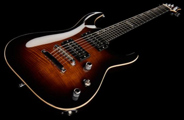 Guitare électrique solid body E-ii E-II Horizon NT (Japan) - dark brown sunburst