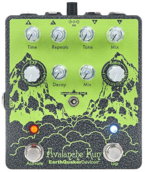 Pédale reverb / delay / echo Earthquaker Avalanche Run Stereo Reverb & Delay V2 Ryo Ltd