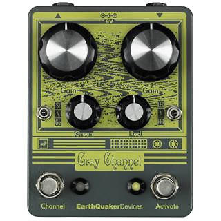 Pédale overdrive / distortion / fuzz Earthquaker Gray Channel