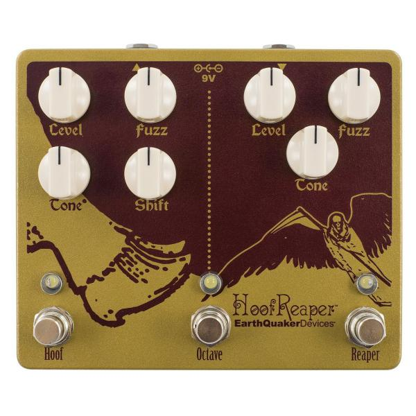 Pédale overdrive / distortion / fuzz Earthquaker Hoof Reaper V2 Fuzz with Octave