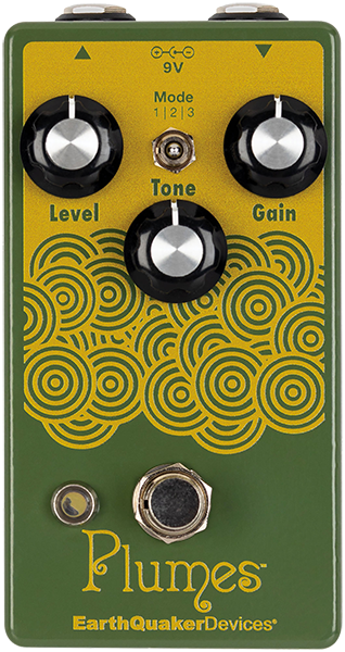 Pédale overdrive / distortion / fuzz Earthquaker Plumes Overdrive