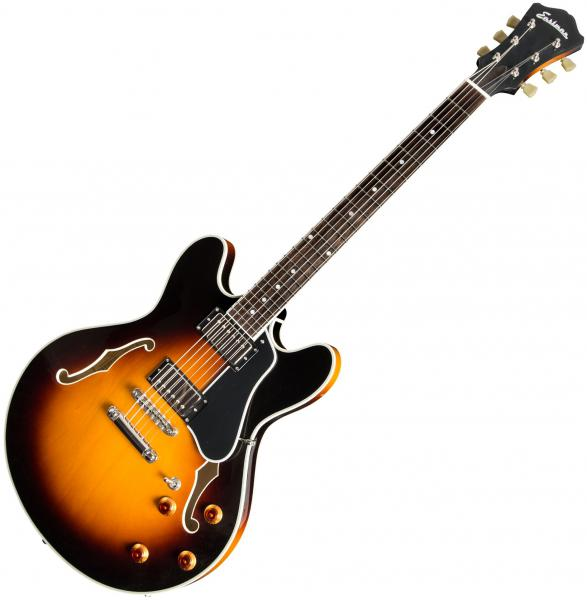 Guitare électrique 1/2 caisse Eastman T386 Thinline Laminate - Sunburst