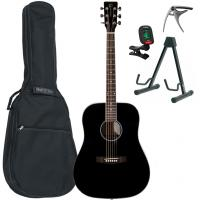 Pack guitare folk Eastone DR100-BLK +Tobago GB10F Bag Pack - Black