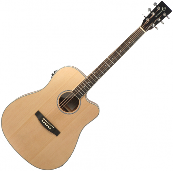 Guitare folk & electro Eastone DR100CE-NAT - Natural