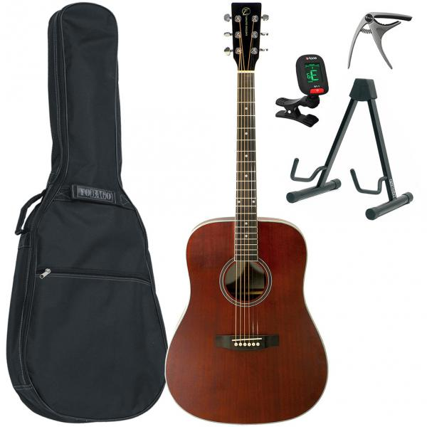 Pack guitare acoustique Eastone DR150-NAT + X-Tone Bag Pack - Natural satin