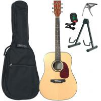 Guitare folk Eastone DR200-NAT + X-Tone Bag Pack - Natural