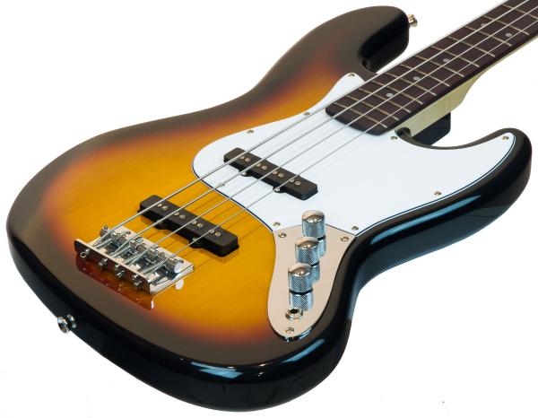Basse électrique solid body Eastone JAB (PUR) - 3 tone sunburst