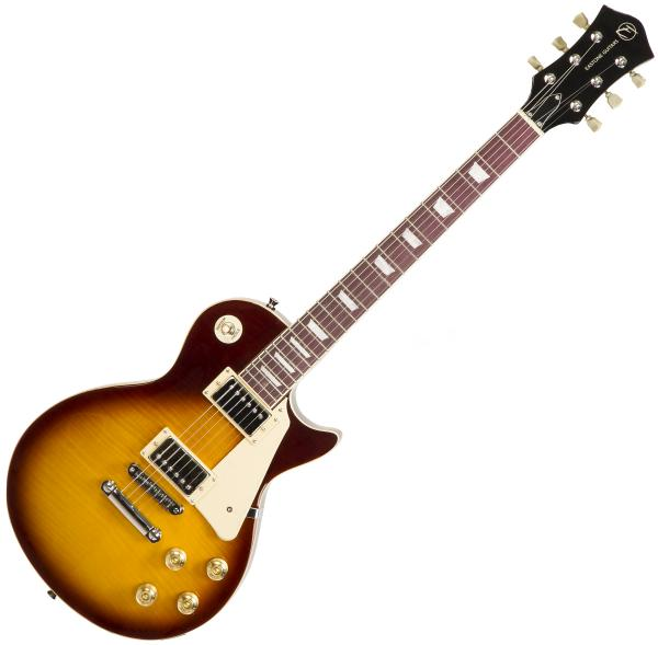 Guitare électrique solid body Eastone LP200 HB - Honey sunburst
