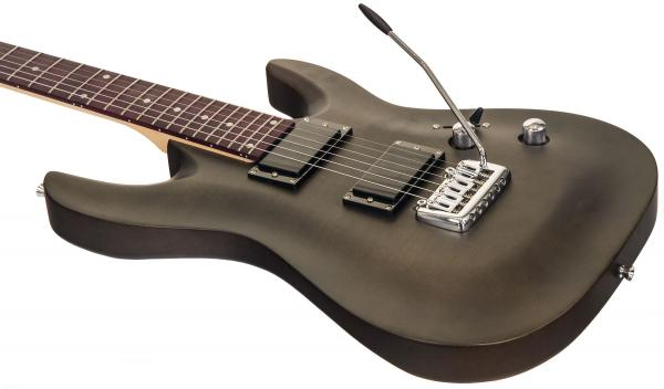 Guitare électrique solid body Eastone METDC - black satin
