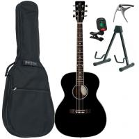 Pack guitare folk Eastone OM100-BLK +Tobago GB10F Bag Pack - Black