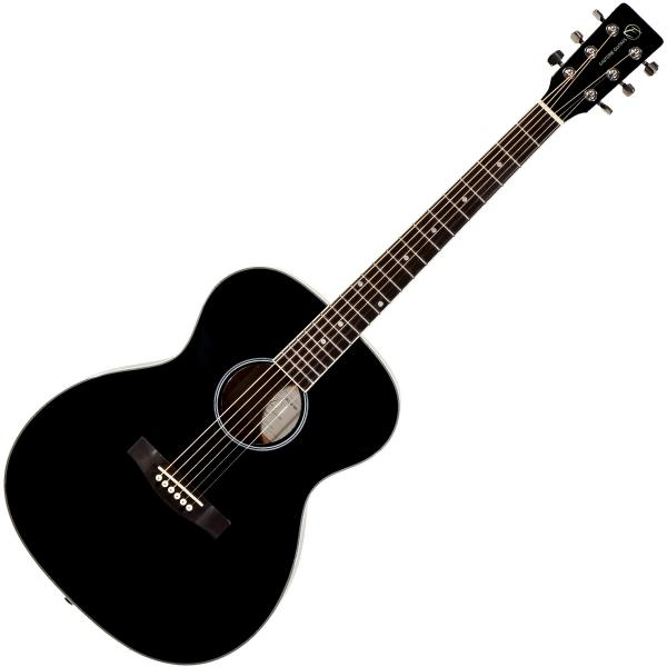 Guitare folk & electro Eastone OM100-BLK - Black