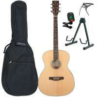 Pack guitare folk Eastone OM100-NAT +Tobago GB10F Bag Pack - Natural satin