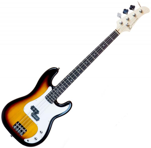 Basse électrique solid body Eastone PRB (PUR) - 3 tone sunburst