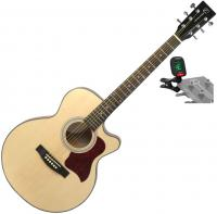 Pack guitare folk Eastone SB20C-NAT+ X-TONE Accordeur Clip-On - Natural