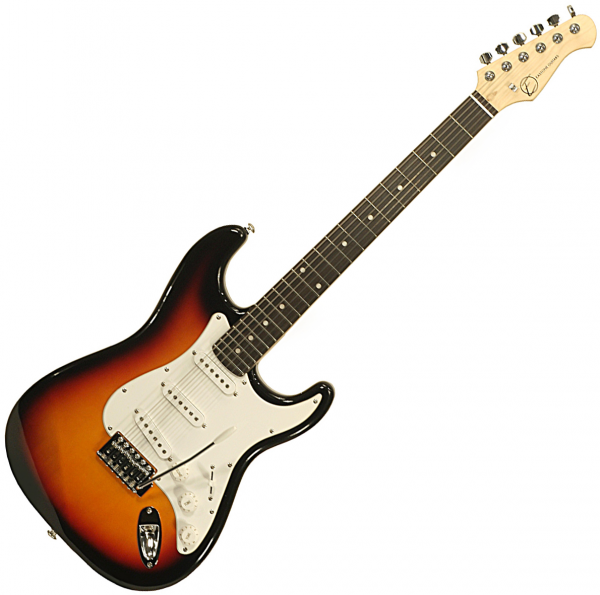 Guitare électrique solid body Eastone STR70 (PUR) - 3-tone sunburst