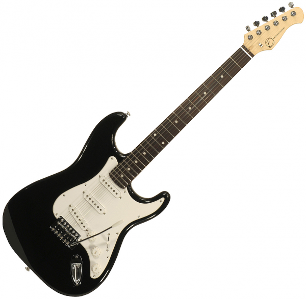 Guitare électrique solid body Eastone STR70 (PUR) - Black