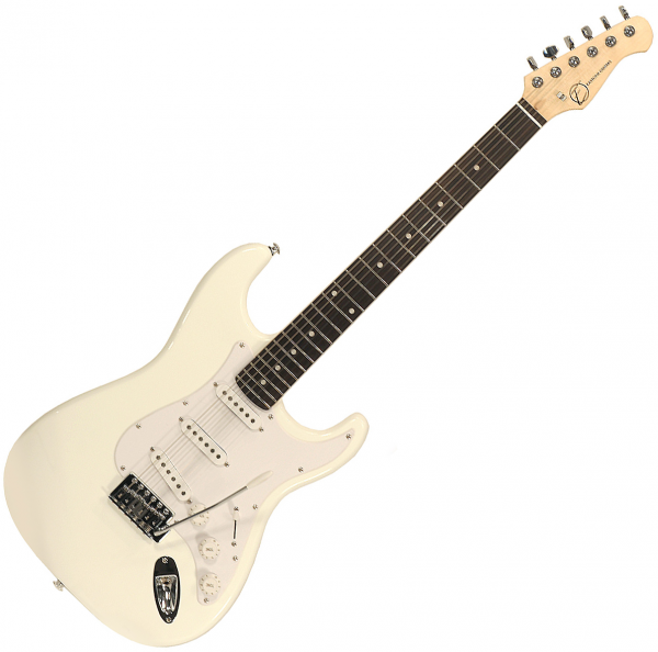 Guitare électrique solid body Eastone STR70 (PUR) - White