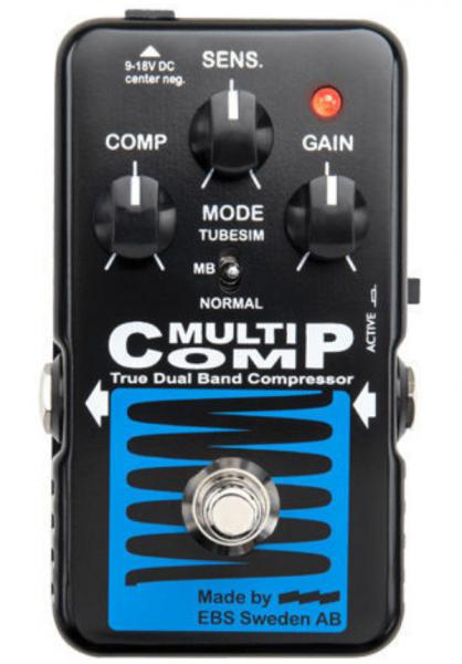 Pédale compression / sustain / noise gate Ebs                            MultiComp Blue Label
