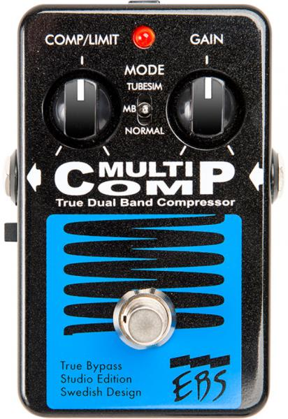 Pédale compression / sustain / noise gate Ebs                            Multicomp Studio Edition