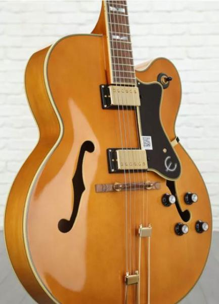 Guitare électrique 3/4 caisse & jazz Epiphone Broadway 2019 - vintage natural