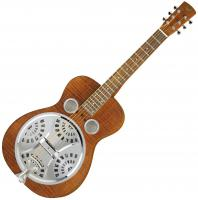 Dobro Hound Dog Deluxe Square Neck - Vintage brown