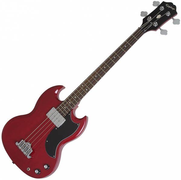 Basse électrique solid body Epiphone EB-0 Bass - Cherry