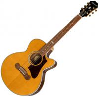 Guitare folk Epiphone EJ-200SCE Coupe - Vintage natural