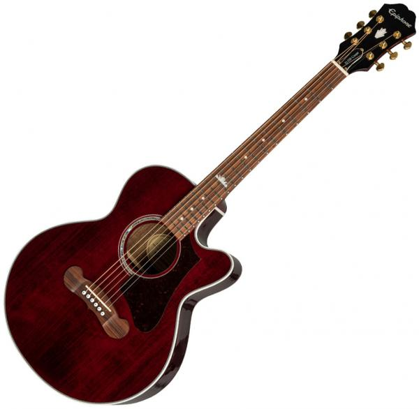 Guitare folk & electro Epiphone EJ-200SCE Coupe - wine red