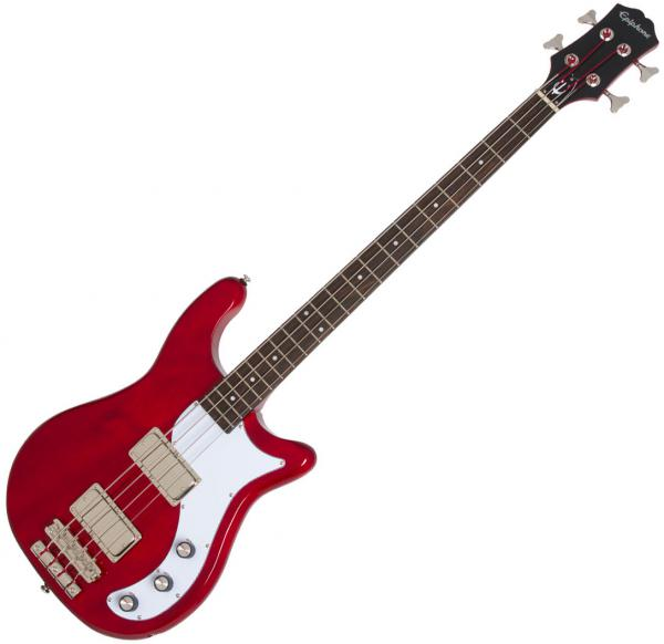 Basse électrique solid body Epiphone Embassy Pro Bass - Dark cherry
