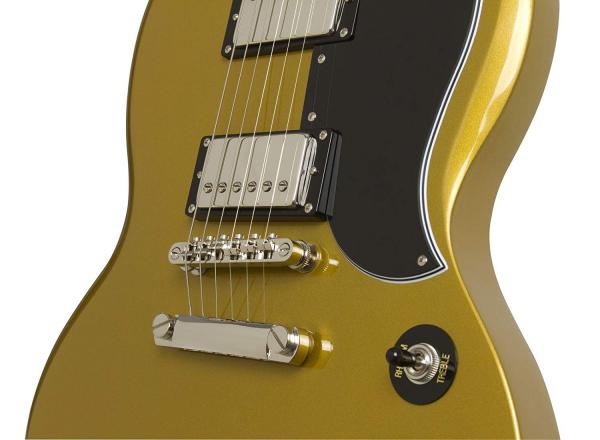 Guitare électrique solid body Epiphone G-400 Pro 1961 Ltd - metallic gold