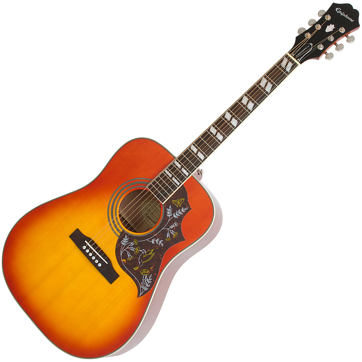 Guitare folk Epiphone Hummingbird Pro - faded cherry ...