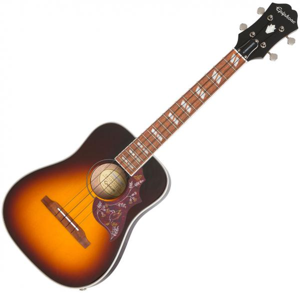 Ukulélé Epiphone Hummingbird Tenor Acoustic/Electric Ukulele +Bag - tobacco sunburst