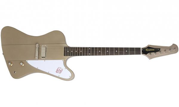 Guitare électrique solid body Epiphone Joe Bonamassa Treasure Firebird-I Outfit - polymist gold