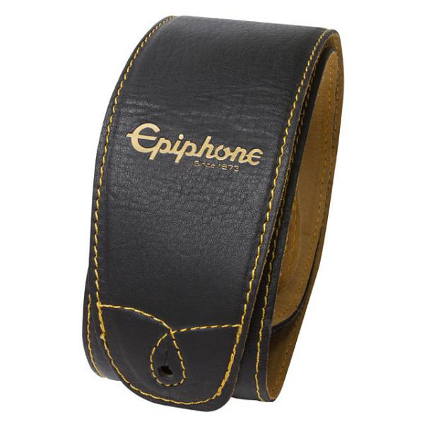 Courroie sangle Epiphone Leather Guitar Strap - Black