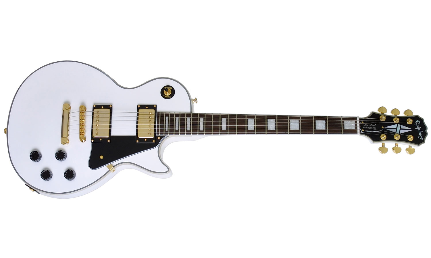 epiphone epiphone les paul custom pro alpine white livr chez vous avec star 39 s music. Black Bedroom Furniture Sets. Home Design Ideas