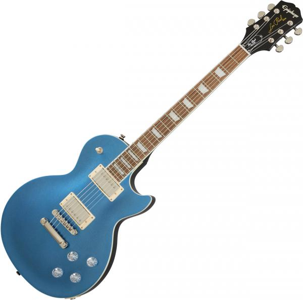 Guitare électrique solid body Epiphone Les Paul Muse Modern - Radio blue metallic