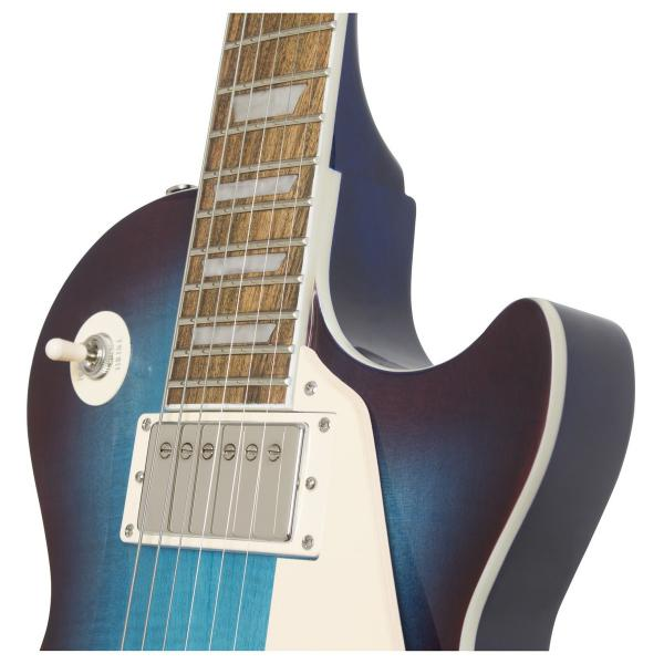 Guitare électrique solid body Epiphone Les Paul Standard Plus Top Pro 2018 - blueberry burst