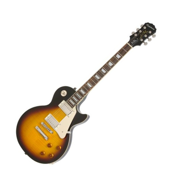 Guitare électrique solid body Epiphone Les Paul Standard Plus Top Pro - vintage sunburst