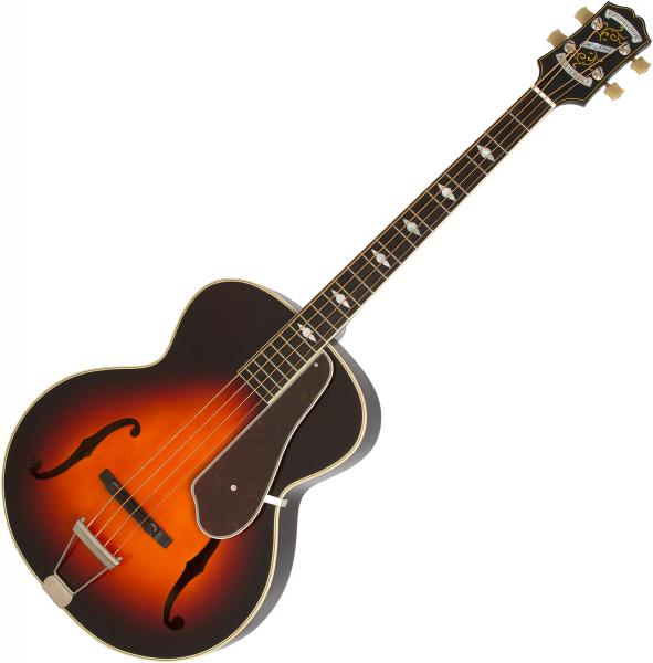 Basse électrique hollow body Epiphone Masterbilt Century De Luxe Classic 4-String Acoustic/Electric Bass - vintage sunburst