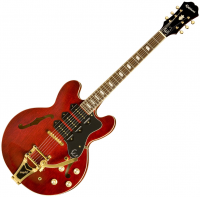 Guitare électrique hollow body Epiphone Riviera Custom P-93 - Wine red