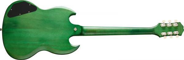 Guitare électrique solid body Epiphone SG Classic Worn P-90 Modern - satin inverness green