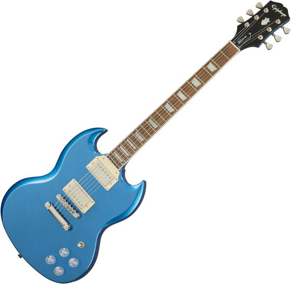 Guitare électrique solid body Epiphone SG Muse Modern - Radio blue metallic