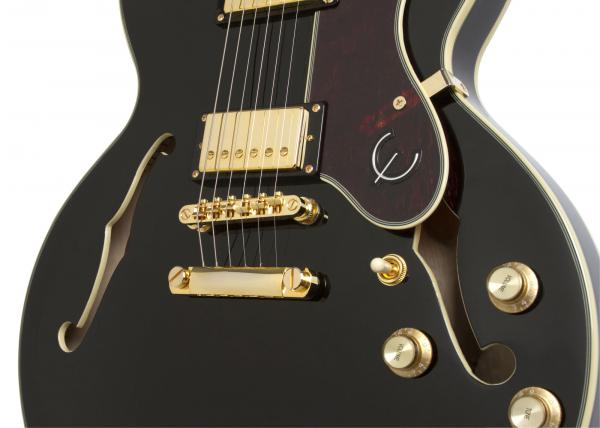 Guitare électrique hollow body Epiphone Sheraton-II PRO 2018 - ebony