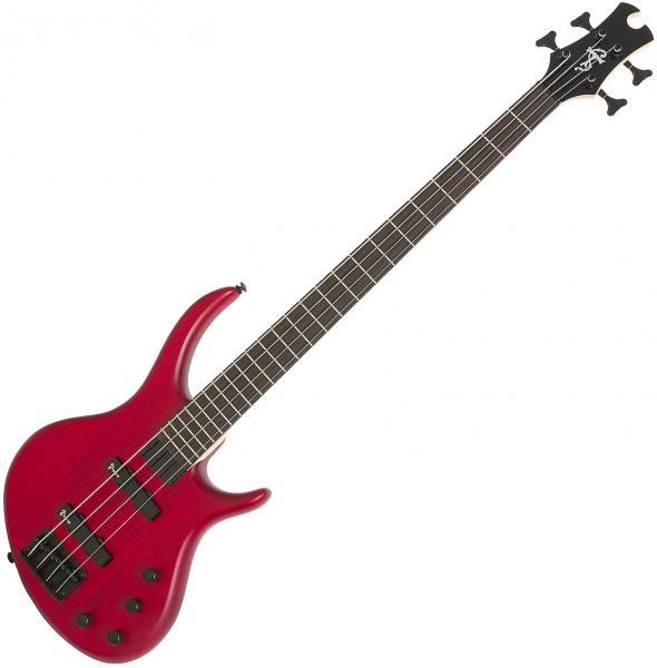 Basse électrique solid body Epiphone Toby Deluxe IV Bass - Trans red