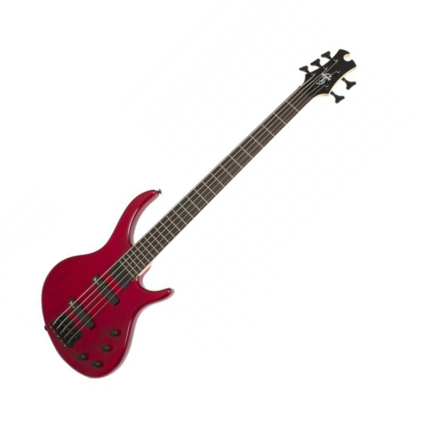 Basse électrique solid body Epiphone Toby Deluxe V Bass - Trans red