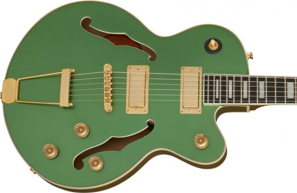 Guitare électrique 1/2 caisse Epiphone Uptown Kat ES Original - emerald green metallic