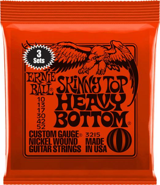 Cordes guitare électrique Ernie ball Electric (3x SET) 3215 Skinny Top Heavy Bottom 10-52 Skinny Top Heavy Bottom 10-52 (3x SET) - jeu de 6 cordes