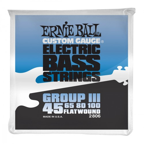 Cordes basse électrique Ernie ball Bass (4) 2806 Flatwound Group III 45-100 - Jeu de cordes